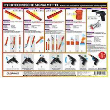 Pyrotechnische Seenotsignalmittel, doppelseitig # Seenot Rakete Signalpistole