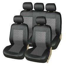 9pcs Car Seat Covers Pu Leather Front Rear Cushion Universal Protector Full Set Fits 2009 Hyundai Santa Fe
