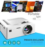 Portable 1080P HD LCD LED Mini Projector Home Theater Cinema VGA USB HDMI Lot JS
