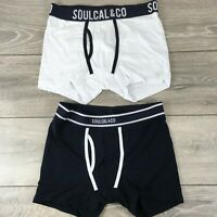 2 X SoulCal Mens Boxers Shorts Underwear Size SMALL Black White  R351-10