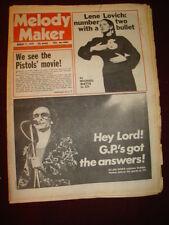 MELODY MAKER 1979 MAR 17 JOHNNY ROTTEN GRAHAM PARKER LENE LOVICH IGGY POP EAGLES