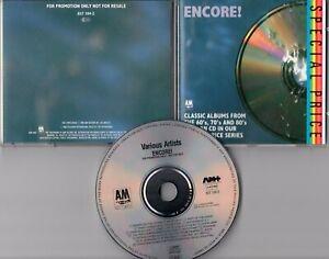 A&M Records Promo-CD © 1988 THE POLICE Dr. John ROGER HODGSON Joan Baez DE BURGH