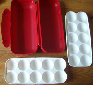 Tupperware A 23 Kolumbus Eierbox Behälter für 10 Eier Orange Ostern Neu OVP