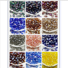 Wholesale 6x8mm 100pcs AB Drop Glass Faceted Loose Crystal Bead