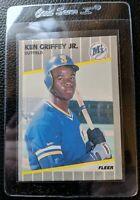 1989 FLEER #548 KEN GRIFFEY JR ROOKIE CARD RC SEATTLE MARINERS HOF MINT