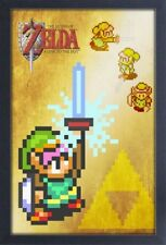 LEGEND OF ZELDA MASTER SWORD LTTP 13x19 FRAMED GELCOAT VIDEO GAME NINTENDO GIFT!