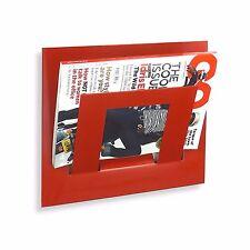 Designer SINGOLO ROSSO parete magazine giornali Rack dalla casa in metallo
