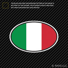 Italy Oval Sticker Die Cut Decal Italian Country Code euro IT v7