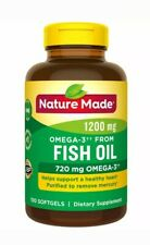Nature Made Omega-3 from Fish Oil 1200 mg Softgels 100 Count Packaging may vary