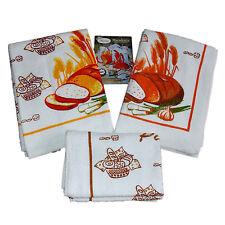 6 Strofinacci ricamati cucina rettangolare SPUGNA cotone canovaccio macedonia
