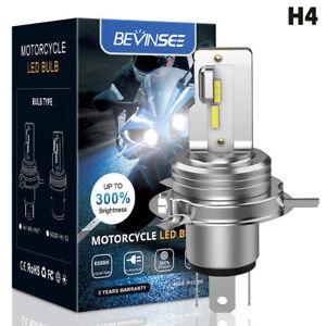 H4 HS1 LED Light Bulb High Power 6000K White 1500LM Motorcycle ATV UTV Headlight