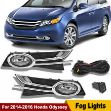Bumper Fog Lights Lamps L+R For 2014-2016 Hon-da Ody-ssey w/Switch+Bulbs+Wiring
