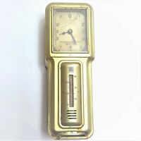 Antique Art Deco Wall Mounted Wired Clock & Heat Thermostat Minneapolis Vintage