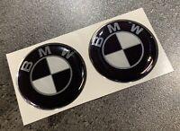 🏍 BMW-3D-Embleme Aufkleber 30mm Schwarz 2teilig für S 1000 RR R XR R 1200 GS RS