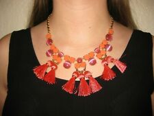 """NWT Kate Spade """"The Swing Of Things"""" Pink Multi Necklace w/Dust Bag"""
