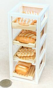 Full Wooden Bakers Tray Rack Tumdee Dolls House Miniature 1:12 Scale Accessory B