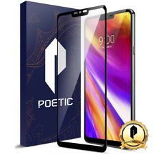 Poetic [Full Coverage] HD For LG G7 ThinQ Tempered Glass Screen Protector Black