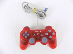 Like New Genuine Playstation 1 Clear Red Controller Ps1 PsOne Controller Free...