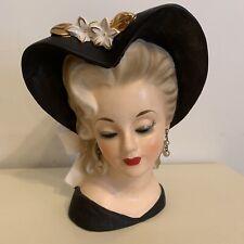 Lady Head Vase- Heart Hat