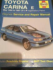 HAYNES WORKSHOP REPAIR MANUAL 3256 ,  TOYOTA CARINA E. 1992 TO 1997. J TO P REG