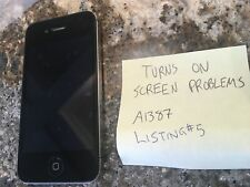 Black iPhone 4S -- Model A1387 -- Unknown GB -- SOLD AS IS -- Listing#5