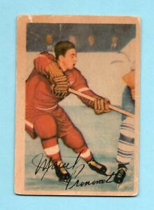 1953-54 Parkhurst #41 Marcel Pronovost Detroit Red Wings Hockey Card Low Grade