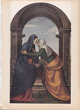 "1939 Vintage ""THE VISITATION"" by ALBERTINELLI Color Art Plate Lithograph"