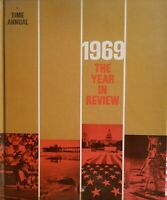 Time Magazine Annual 1969 The Year in Review Book Hardcover Time-Life Books