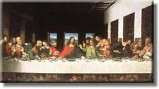 The Last Supper by Leonardo da Vinci Picture on Stretched Canvas, Wall Art Décor