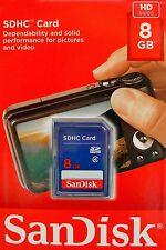 SanDisk 8GB SD SDHC class 4 Speicherkarte SDSDB-008G-B35 NEU OVP