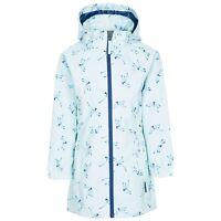 Trespass Girls Rain Coat Waterproof Hooded Longline Wind Jacket Kids 2-12 Years