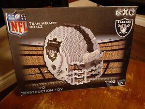 NFL Oakland Raiders BRXLZ Team Helmet 3-D Puzzle Construction Toy New fun set