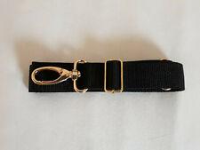 Tragegurt braun schwarz Gold 30mm Schulterriemen Gurtband Karabiner Schieber
