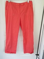 Nine and Co. Ladies Size 16 Orange Stretch Slacks