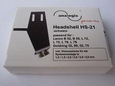 Analogis HS-21 Headshell schwarz für Lenco B 52 55 L 72 75 76 78 NEU NEW Black
