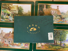 JASON PLACEMATS NEW ZEALAND COUNTRY COTTAGES SET OF 4 Flaw