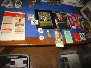 Cal Ripken Brooks Robinson Baltimore Orioles Baseball Memorabilia Lot 1976 Sked