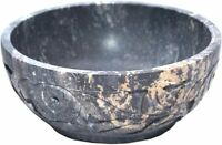 5 Inch Handmade Stone Scrying and Smudge Bowl (Scrying - Bowls & Mirrors) Decor