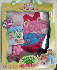 CABBAGE PATCH KIDS BABIES TOO CUTE! FASHION - SWIMSUIT & RATTLE - BLUE/PINK