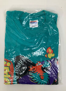 Rare Vintage 1996 Olympics Spirit Day Atlanta USA Green T Shirt XL 90s Aug 17🔥