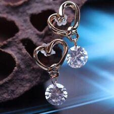 Jewelry Pins Eardrop Wedding Fashion Zircon Earrings Heart Shaped Stud Crystal