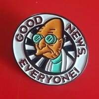 Futurama Pin Professor Farnsworth Good Enamel Retro Metal Brooch Badge Lapel