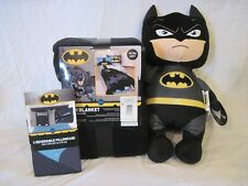 Batman Plush Throw Blanket, Pillowcase Knight Hero, and Pillow Pal Power Punch