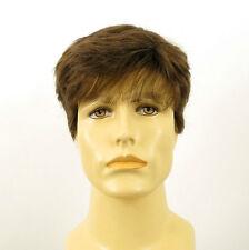 Perruque homme 100% cheveux naturel châtain clair ref JAMES 8