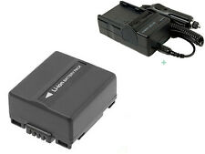 Battery + Charger For Panasonic PV-GS19 PV-GS29 PV-GS39 PV-GS59 MiniDV Camcorder