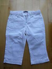 EUC Gap Girls Summer White Short Jean Petal Pushers 8