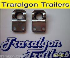 2x anti rattle luse latch plate bolt on trailer truck tailgate antiluce UT1