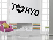 I Love Tokyo Kiss Japan Positive  Mural Wall Art Decor Vinyl Sticker z748
