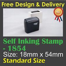 Customised Custom Make Business Name Address Self Inking Ink Stamp 18mm x 54mm