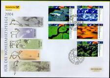 BRD 2004: Klimazonen Post-Groß-FDC der Nr. 2423-2427 mit Berlin Stamp! 1710